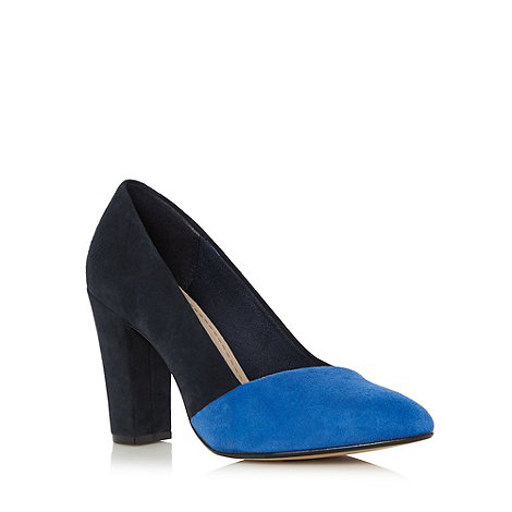Clarks - Blue +Babble Brook+ suede block heel shoes