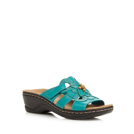 Clarks - Turquoise +Odette Basil+ sandals