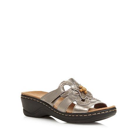 Clarks - Silver metallic +Odette Basil+ sandals