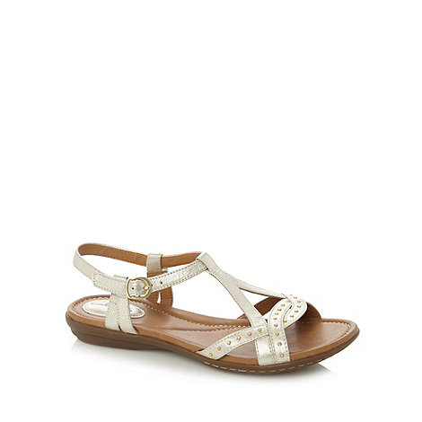 Clarks - Gold +Royal Hannah+ studded sandals