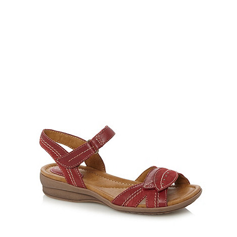 Clarks - Red leather +Reid sun+ sandals
