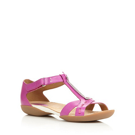 Clarks - Dark pink 'Raffi Magic' sandals