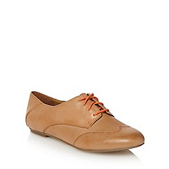 Clarks - Tan leather 'Gin Spritz' lace up shoes