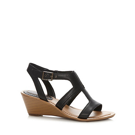 Clarks - Black 'Our Style' mid heel sandals