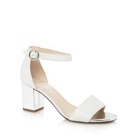 Clarks - White +Susie Deva+ mid sandals