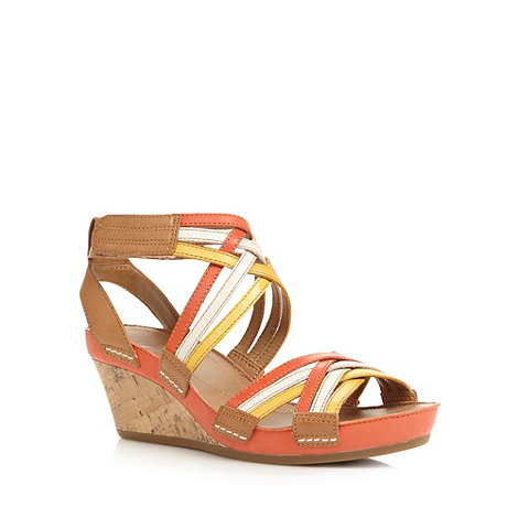 Clarks - Orange +Rusty Free+ mid wedges