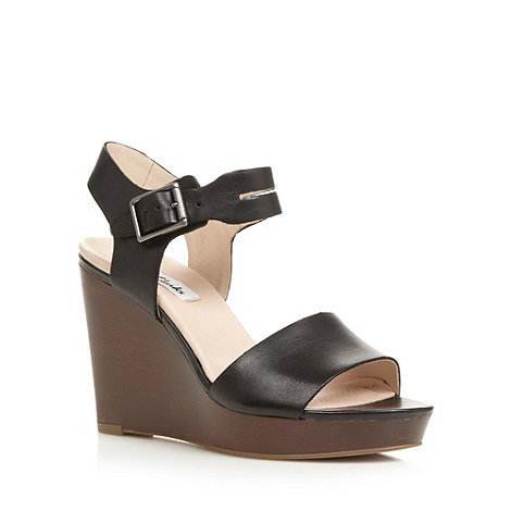 Clarks - Black 'Orleans Jazz' high wedge sandals
