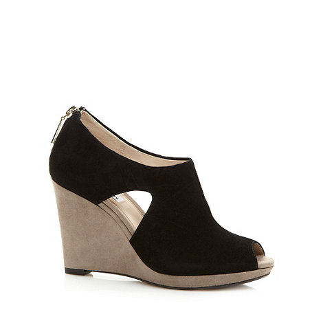 Clarks - Black +Comet Zoom+ suede wedge shoes