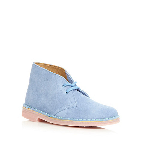 Clarks - Pale blue +Desert Boot+ ankle boots