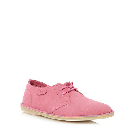 Clarks - Pink 'Jink Soft' suede shoes