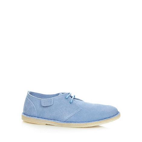 Clarks - Pale blue +Jink Soft+ suede shoes