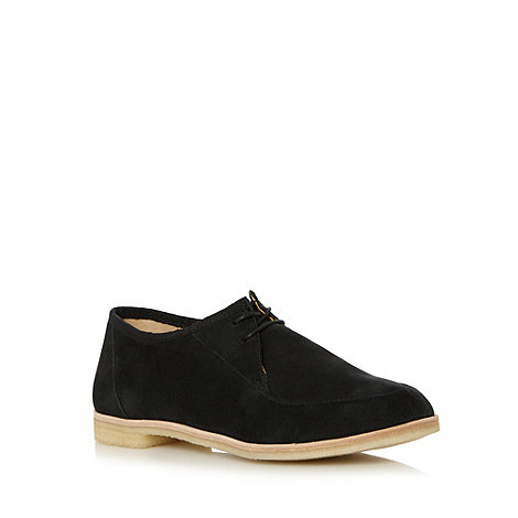 Clarks - Black +Phenia Point+ suede flat shoes