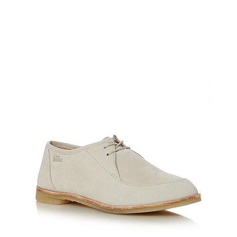 Clarks - Pale grey +Phenia Point+ suede flat shoes