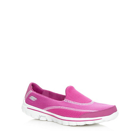 Skechers - Bright pink +GOwalk 2 - Spark+ slip on shoes