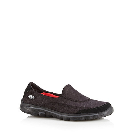 Skechers - Black +GOwalk 2 - Linear+ walking shoes