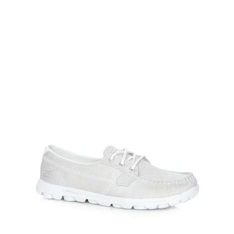Skechers - Silver +On The Go Glimmer+ boat shoes