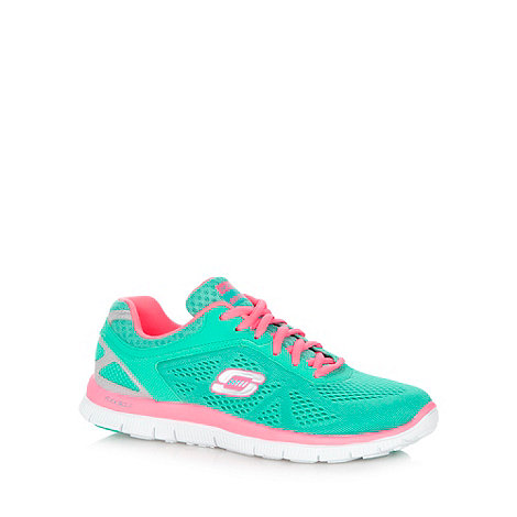 Skechers - Turquoise +Sport-Flex-Appeal+ mesh trainers