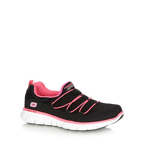 Skechers - Black/hot pink +Synergy - Loving Life+ bungee trainers
