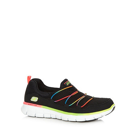 Skechers - Black +Synergy-Loving Life+ slip on trainers