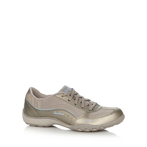 Skechers - Taupe +Active Breath Easy+ memory foam trainers