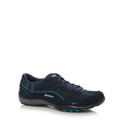 Skechers - Navy +Active Breathe+ trainers