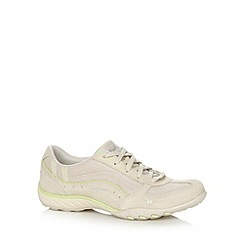Skechers - Natural 'Active Breath Easy' memory foam trainers