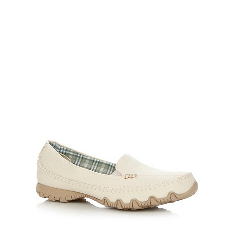 Skechers - Natural +Biker Cross Walk+ slip on shoes