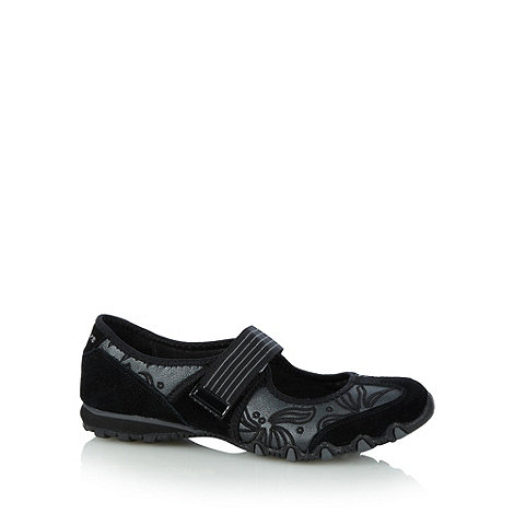 Skechers - Black 'Bikers Pearl' shoes