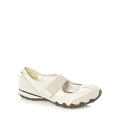 Skechers - Natural 'Bikers Pearl' shoes