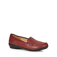 Hotter - Maroon leather snakeskin slip on shoes