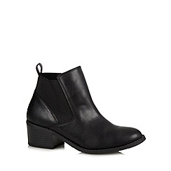 Call It Spring - Black 'Shatz' low ankle boots