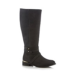 Call It Spring - Black 'Afriedda' mid heeled high leg boots