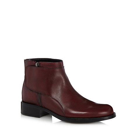 Call It Spring - Wine +Dimuro+ leather ankle boots