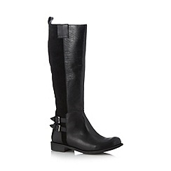 Call It Spring - Black 'Presley' mixed leather high leg boots