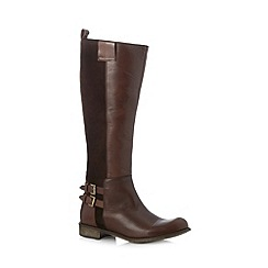 Call It Spring - Brown 'Presley' mixed leather high leg boots