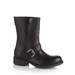 Call It Spring - Black 'Pryviel' mid heeled calf length boots