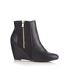 Call It Spring - Black 'Brumagin' wedge ankle boots