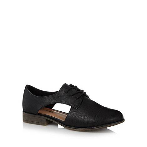Call It Spring - Black 'Jonalyn' cutout shoes