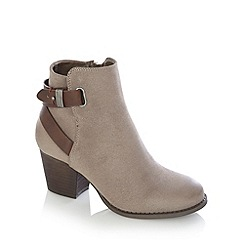 Call It Spring - Taupe 'Boscomare' mid ankle boots