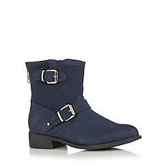 Call It Spring - Navy 'Amile' buckle ankle boots