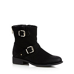 Call It Spring - Black 'Amile' buckle ankle boots