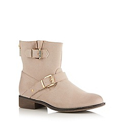 Call It Spring - Natural 'Amile' rear zip mid ankle boots