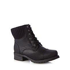 Call It Spring - Black 'Ain Charedia' lace up boots