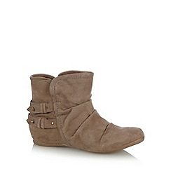 Call It Spring - Taupe 'Girang' suedette boots