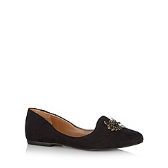 Call It Spring - Black 'Gambetta' owl trim pumps