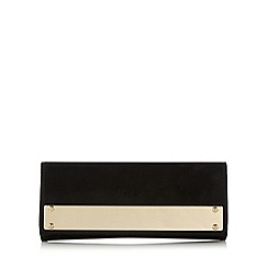 Call It Spring - Black 'Oren' gold plate detail clutch bag