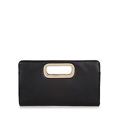 Call It Spring - Black 'Teora' PU handle clutch bag