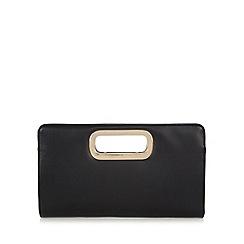 Call It Spring - Black 'Teora' PU handle clutch bag