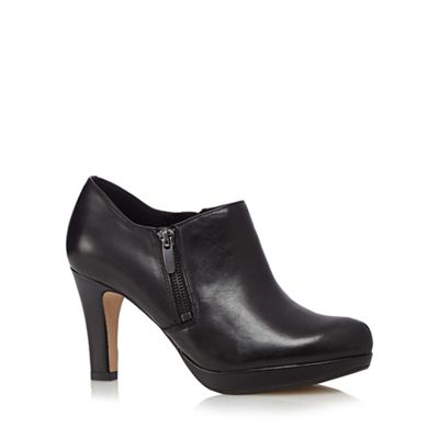 Clarks Black leather ´Amos Kendra´ platform shoeboot - . -