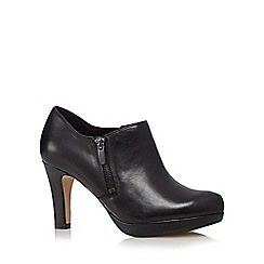 Clarks - Black leather 'Amos Kendra' platform shoeboot